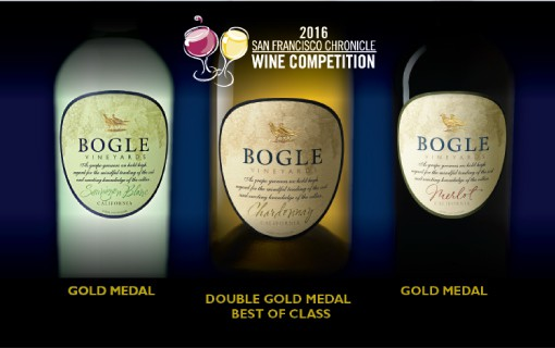 BOGLE WINS BIG at the San Francisco Chronicle Wine Competition