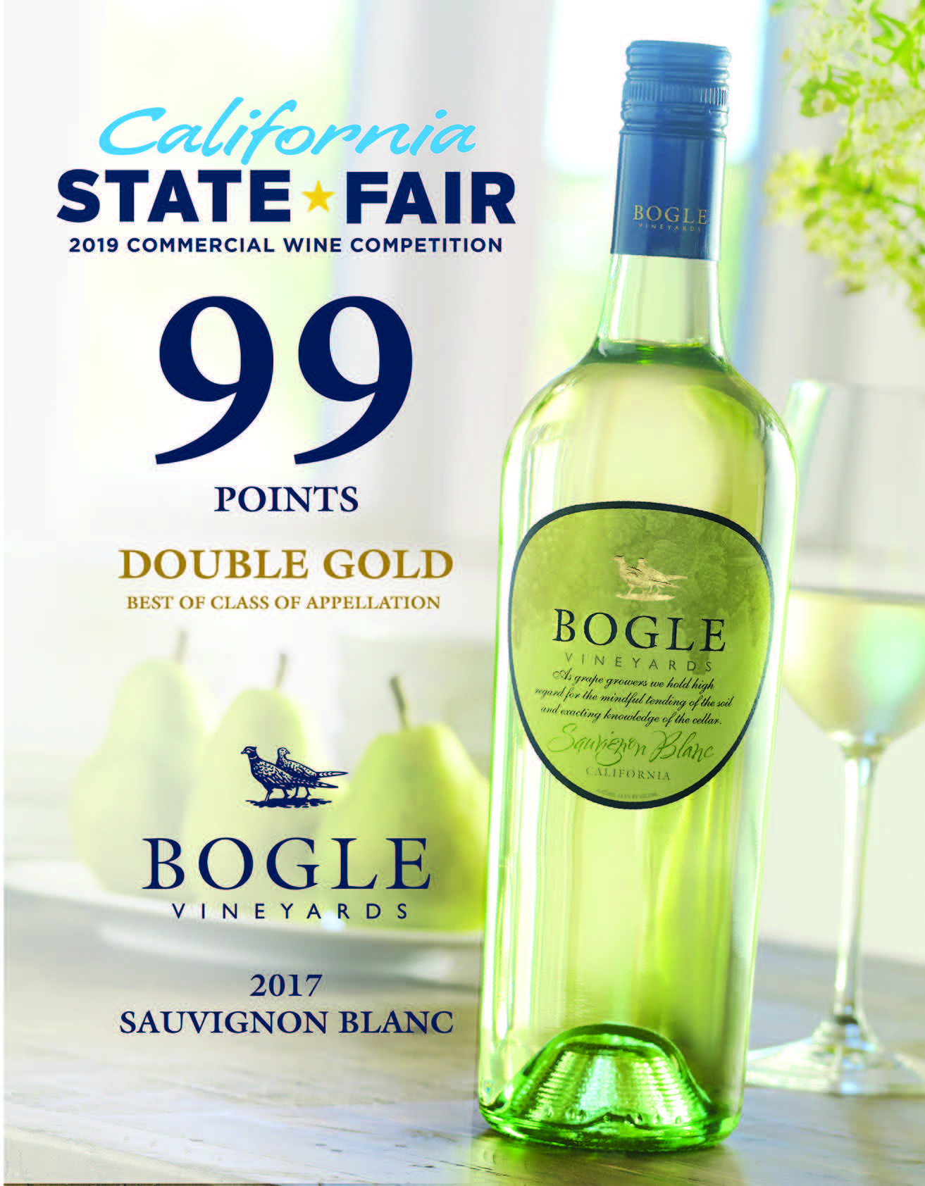 2017 Sauvignon Blanc 99 Pts Double Gold State Fair