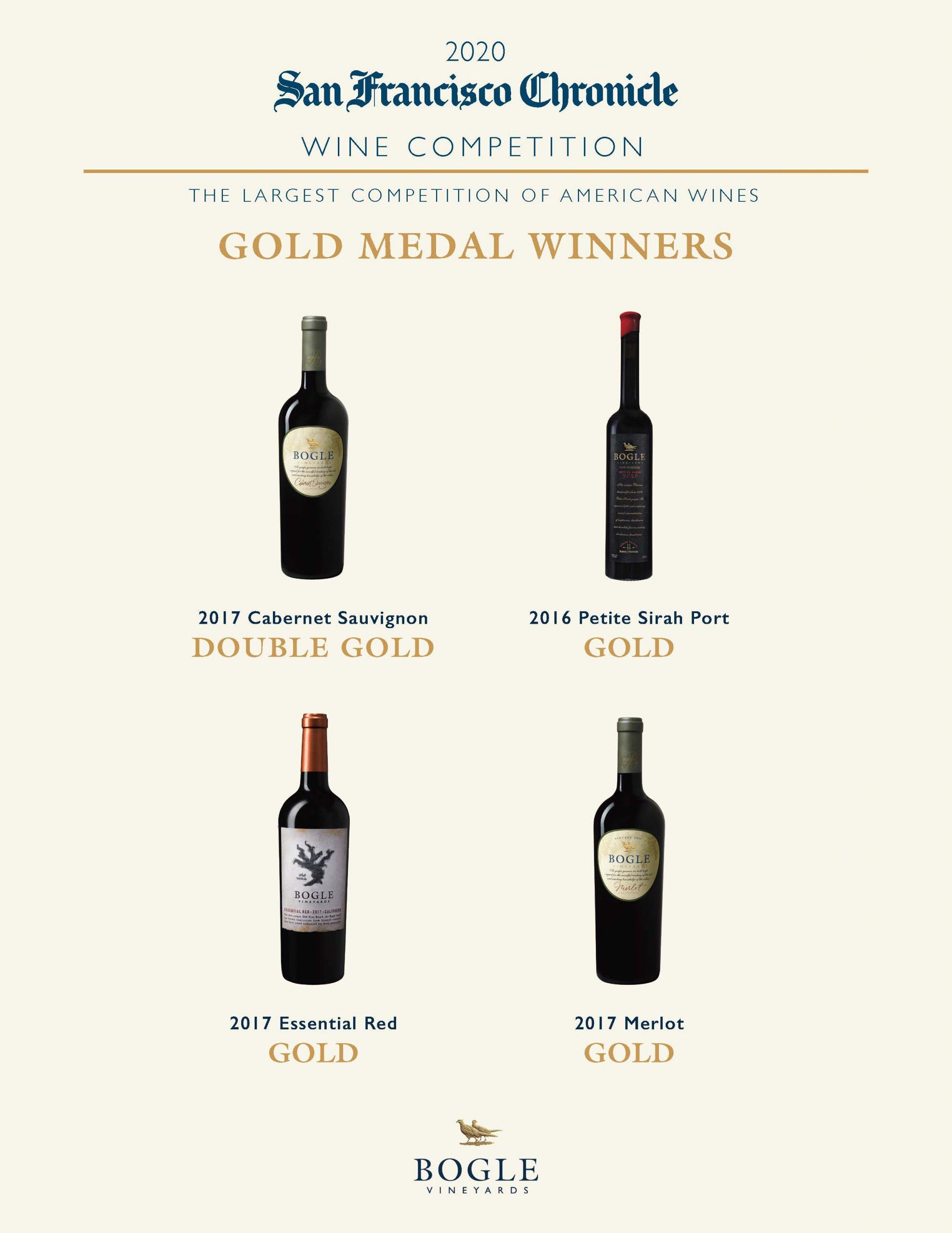 2020 San Francisco Chronicle Wine Competition Accolades